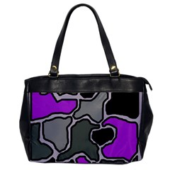 Purple and gray abstraction Office Handbags