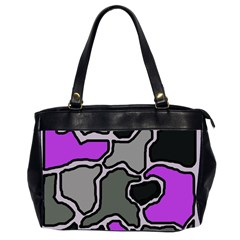 Purple and gray abstraction Office Handbags (2 Sides)