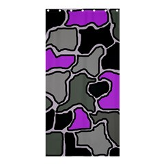 Purple and gray abstraction Shower Curtain 36  x 72  (Stall)