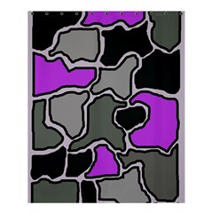 Purple and gray abstraction Shower Curtain 60  x 72  (Medium)
