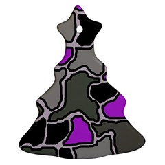 Purple and gray abstraction Ornament (Christmas Tree)