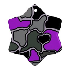 Purple and gray abstraction Snowflake Ornament (2-Side)