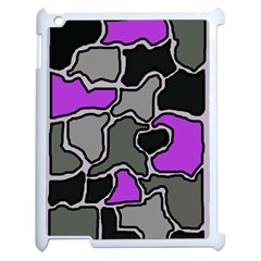 Purple and gray abstraction Apple iPad 2 Case (White)