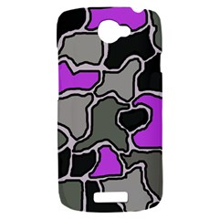 Purple and gray abstraction HTC One S Hardshell Case