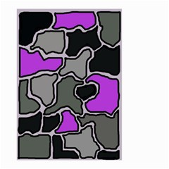 Purple and gray abstraction Small Garden Flag (Two Sides)