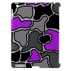 Purple and gray abstraction Apple iPad 3/4 Hardshell Case (Compatible with Smart Cover)