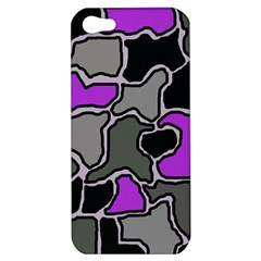Purple and gray abstraction Apple iPhone 5 Hardshell Case