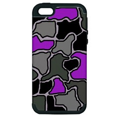 Purple and gray abstraction Apple iPhone 5 Hardshell Case (PC+Silicone)