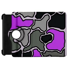 Purple and gray abstraction Kindle Fire HD Flip 360 Case