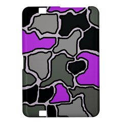 Purple and gray abstraction Kindle Fire HD 8.9