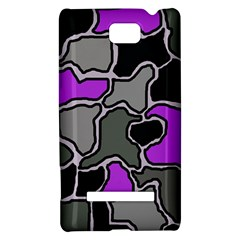 Purple and gray abstraction HTC 8S Hardshell Case