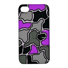 Purple and gray abstraction Apple iPhone 4/4S Hardshell Case with Stand