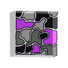 Purple and gray abstraction 4 x 4  Acrylic Photo Blocks