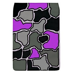 Purple and gray abstraction Flap Covers (S)