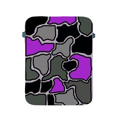 Purple And Gray Abstraction Apple Ipad 2/3/4 Protective Soft Cases
