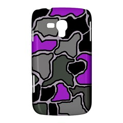 Purple and gray abstraction Samsung Galaxy Duos I8262 Hardshell Case