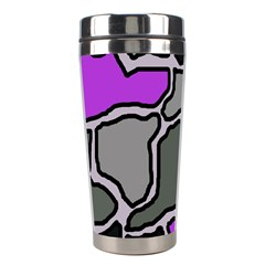 Purple and gray abstraction Stainless Steel Travel Tumblers