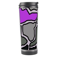 Purple And Gray Abstraction Travel Tumbler