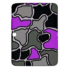 Purple and gray abstraction Samsung Galaxy Tab 3 (10.1 ) P5200 Hardshell Case