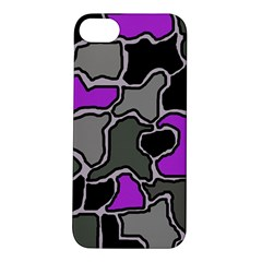 Purple and gray abstraction Apple iPhone 5S/ SE Hardshell Case