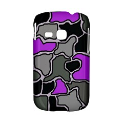 Purple and gray abstraction Samsung Galaxy S6310 Hardshell Case