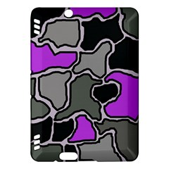 Purple and gray abstraction Kindle Fire HDX Hardshell Case