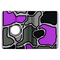 Purple and gray abstraction Kindle Fire HDX Flip 360 Case