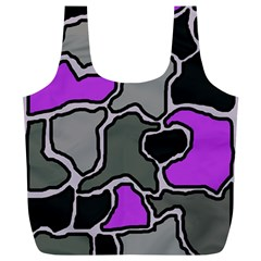 Purple and gray abstraction Full Print Recycle Bags (L)