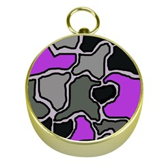 Purple and gray abstraction Gold Compasses
