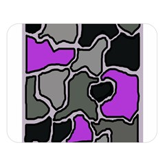 Purple and gray abstraction Double Sided Flano Blanket (Large)