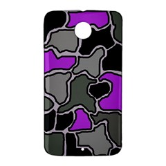 Purple and gray abstraction Nexus 6 Case (White)