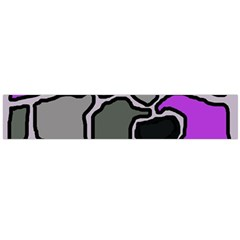 Purple and gray abstraction Flano Scarf (Large)