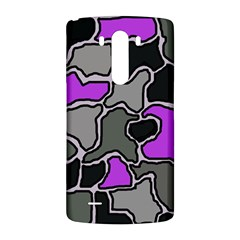 Purple and gray abstraction LG G3 Back Case