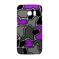 Purple and gray abstraction Galaxy S6 Edge