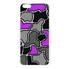 Purple and gray abstraction Apple Seamless iPhone 6 Plus/6S Plus Case (Transparent)