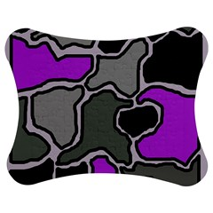 Purple and gray abstraction Jigsaw Puzzle Photo Stand (Bow)