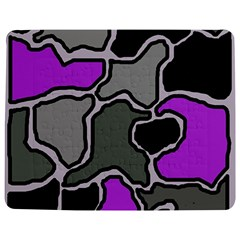 Purple and gray abstraction Jigsaw Puzzle Photo Stand (Rectangular)