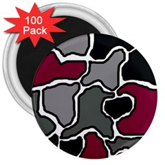 Decorative abstraction 3  Magnets (100 pack)