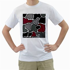 Decorative abstraction Men s T-Shirt (White) (Two Sided)