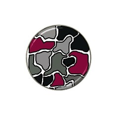 Decorative abstraction Hat Clip Ball Marker (4 pack)