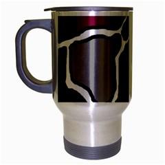 Decorative abstraction Travel Mug (Silver Gray)