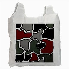 Decorative abstraction Recycle Bag (Two Side)