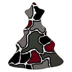 Decorative abstraction Christmas Tree Ornament (2 Sides)