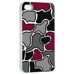 Decorative abstraction Apple iPhone 4/4s Seamless Case (White)