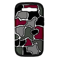Decorative abstraction Samsung Galaxy S III Hardshell Case (PC+Silicone)