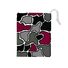 Decorative abstraction Drawstring Pouches (Medium)