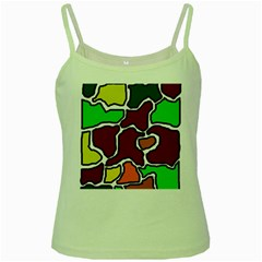 Africa abstraction Green Spaghetti Tank