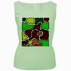 Africa abstraction Women s Green Tank Top