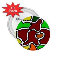 Africa abstraction 2.25  Buttons (10 pack)
