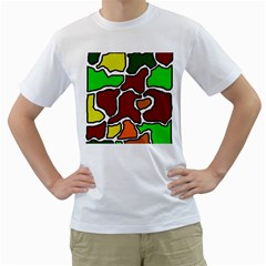 Africa abstraction Men s T-Shirt (White) (Two Sided)